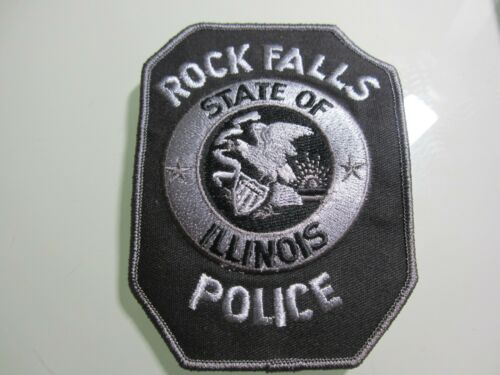 ROCK FALLS IL SWAT (BLACK) POLICE PATCH