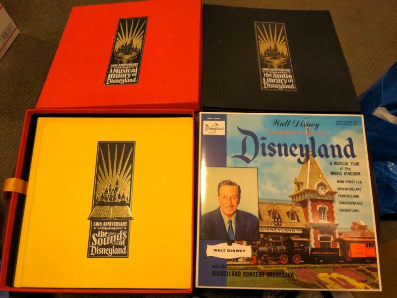 A Musical History of Disneyland 50th Anniversary 6 CD Box Set HB Book & Record