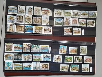 GREECE USED STAMP SETS CAPITALS OF PREFECTURES I,II,III,IV 1988,1990,1992,1994