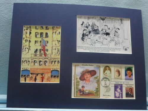 Dorothy Parker & the Algonquin Roundtable & First Day Cover of her own stamp