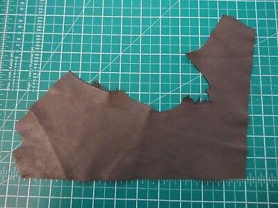 "Milk Chocolate brown soft leather 0.6mm - 10.5"" x 3"" - craft trim  *BR104"