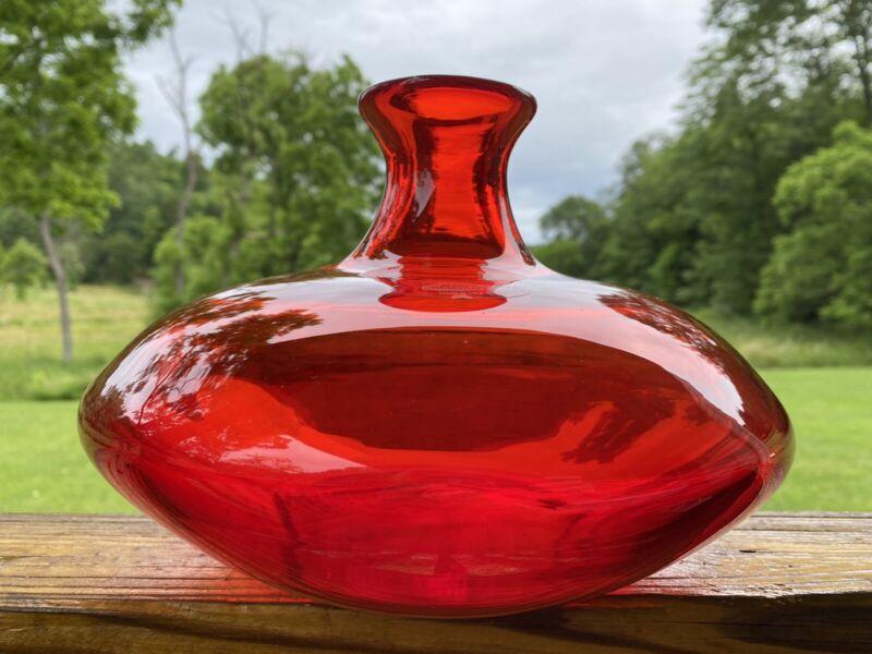 Blenko Glass 7219 Ellipse Vase - Dragon's Breath