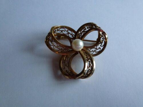 Vintage WINARD Pearl 12K GF Brooch Pin Signed