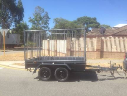 TRAILER TANDEM WITH BRAKES AND CAGE. $1350 LICENSED. NO EMAILS PL Rivervale Belmont Area Preview