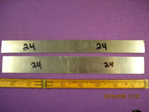PRECISION MACHINIST TOOLS 2 PC UNBRANDED HARDENED FLAT BAR STOCK TOOL STEEL # 24