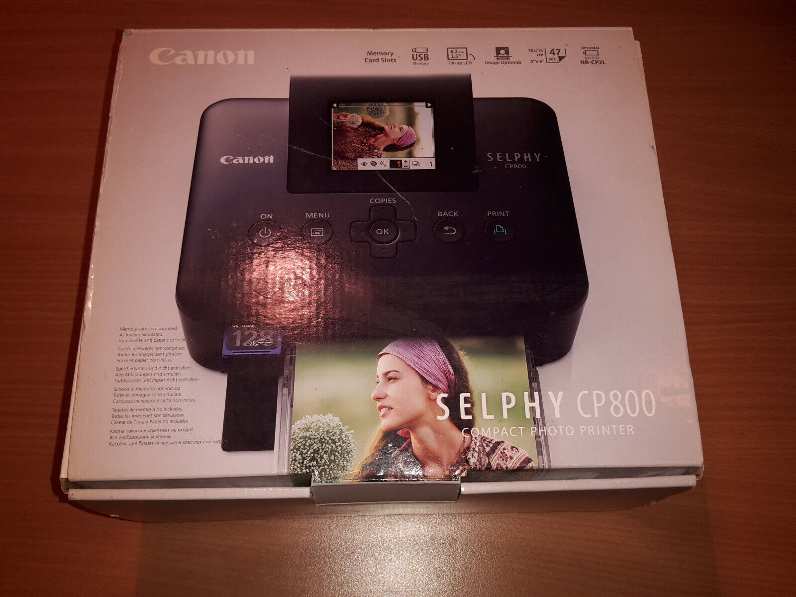 Canon selphy cp800 digital photo imprimante #ckdb