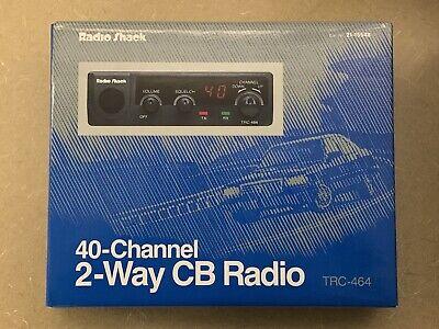 Radio Shack 40 Channel 2 Way CB Radio With Mic TRC 464 Talk