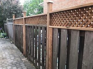 Fence and deck service Old fence and post repair good price