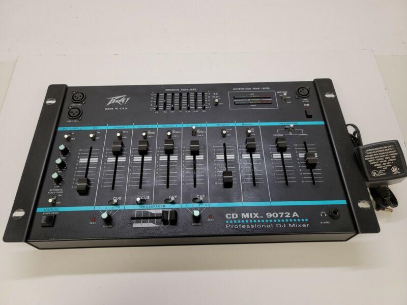 Peavey CD Mix 9072A Professional DJ Mixer w/ power supply