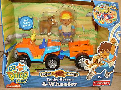 Go Diego Go To The Rescue 4 Wheeler Safari Rescue Playset Nick Jr Fisher Price