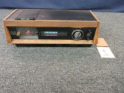 Sears Vintage Solid State Clock Radio Alarm AM FM Silvertone 2097 15 Watt