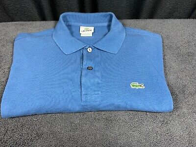 Lacoste mens Blue Short Sleeve Polo Shirt Size 7