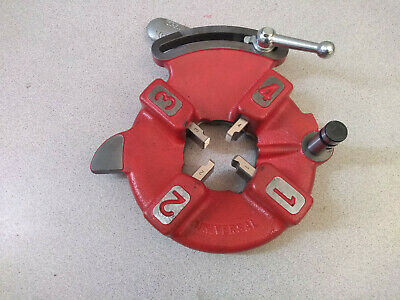 Bmc Tools 811a Quick Opening Die Head With 12-34 Hss Dies For Ridgid 300 535