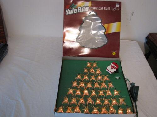 Vintage Retro Christmas 40 Musical Lighted Bells String Light 21 Christmas Songs