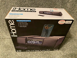 BRAND NEW iHome (iH9) Black iPod Dock Speaker System with Dual Alarm Clock Radio