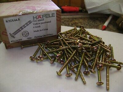 60 HAFELE 8/32X44.5 CABINET PULL HANDLE KNOB SCREWS ZINC PLATED 4 BREAK A238 (Hafele Screws)