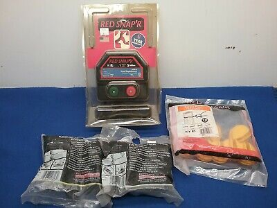 Red Snapr 5 Mile Electric Fence Controller Ea5m-rs W Extras