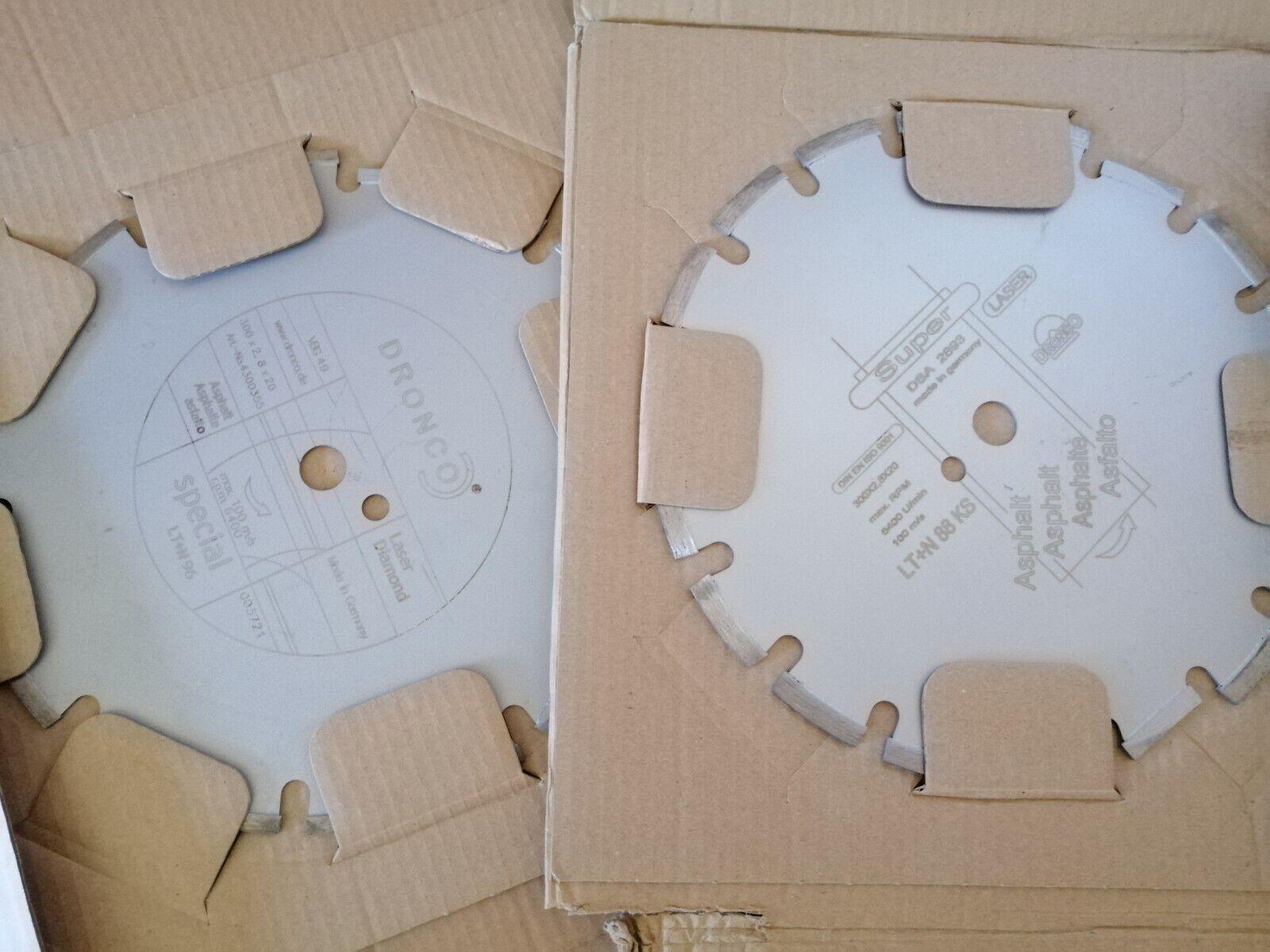 2x Dronco Diamanttrennscheibe 300mm x 2,8mm x 20mm Asphalt Frischbeton