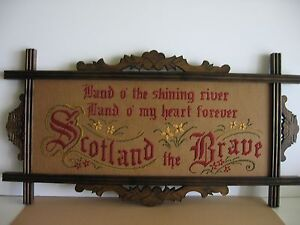 Antique-motto-sampler-style-Kit-to-stitch-Scotland-the-Brave-new