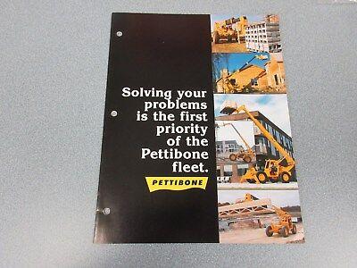Rare Pettibone B66 B68 C8000 Plus More Extendo Forklift Sales Brochure