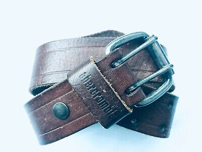 Vintage Abercrombie Brown Leather Belt Size S/M