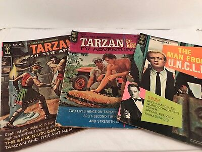 Vintage Tarzan And Man From Uncle Golden Key Comic Books