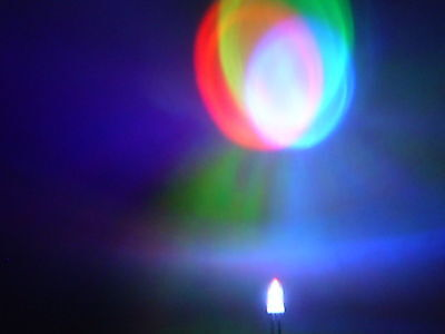 25 Stück LED 5mm Regenbogen-  Farbwechsel- Diode RGB breites Farbspektrum