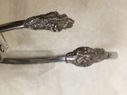 Vintage  Sterling Silver  Dragon  Cuff Bracelet