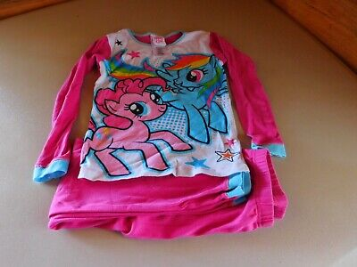 Girl's 2 Pc Size 8 Flame Resistant Sleepwear Clothing My Little Pony Pink & Turq