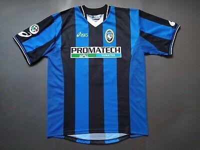ATALANTA Match Worn Jersey Vintage Retro Shirt Maglia Calcio 2002/2003 ZAURI #8 image
