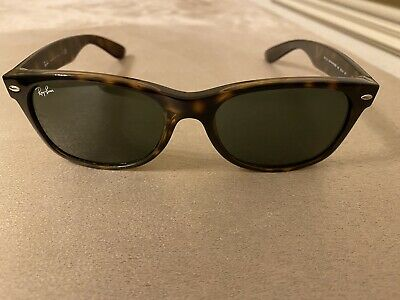 Ray-Ban New Wayfarer RB 2132 902 Shiny Havana / Green Lens Sunglasses