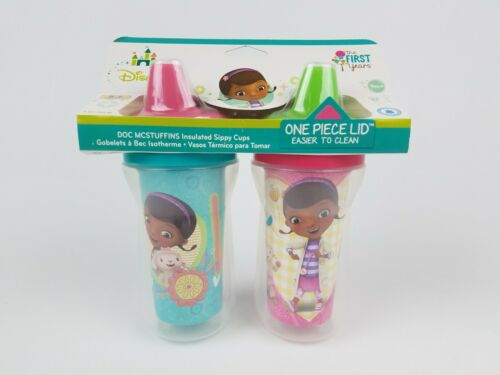 The First Years Disney Doc Mcstuffins Insulated Sippy Cup 9 Oz Baby Cups 2pk