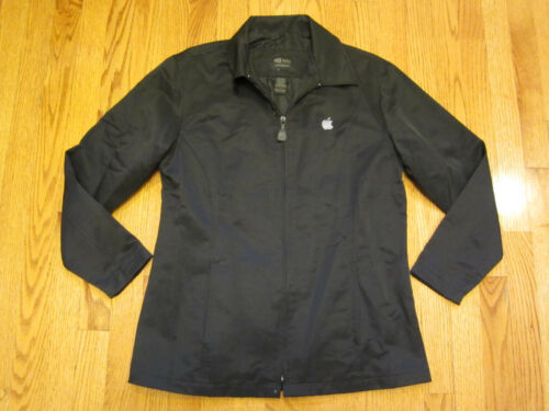APPLE Embroidered Logo Employee Ladies WINDBREAKER JACKET Small Black S SM iMac