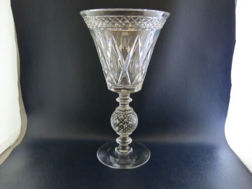 Pairpoint glass Controlled Bubble Large Fancy Stem Vase