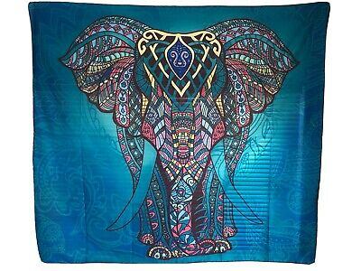 Wall Tapestry Artistic Hippie Bohemian Elephant Psychedelic Trippy Hanging Charm