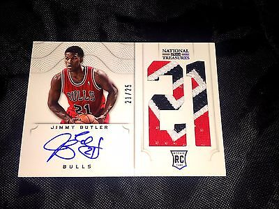 12 13 Jimmy Butler National Treasures Rookie Patch Auto  21 25 Jersey   1 1