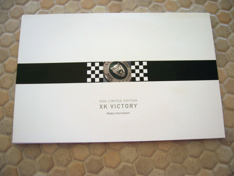 JAGUAR OFFICIAL XK VICTORY LIMITED EDITION PRESS BROCHURE 2006 USA EDITION
