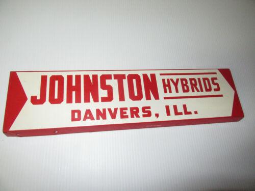 Johnston Hybrids Danvers Illinois  METAL SIGN