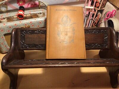 Old Pretty Carved Wooden Book /Bible Stand Shelf / Holder