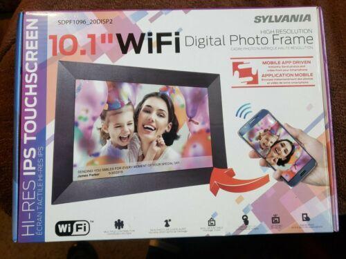"Sylvania SDPF1096-C 10.1"" WiFi 8GB Digital Picture Frame w/IPS Touchscreen F/S/H"