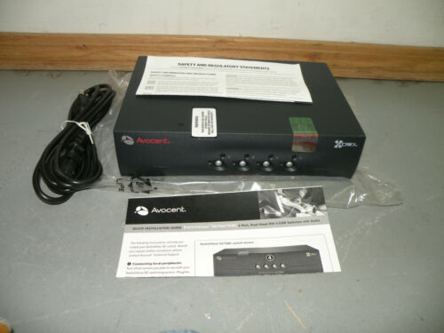 Avocent SC740-001 SwitchView SC700 4-Port Dual-Head Desktop KVM Switch