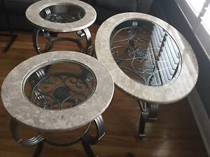 For Sale Marble & Glass coffee and end tables perfect condition