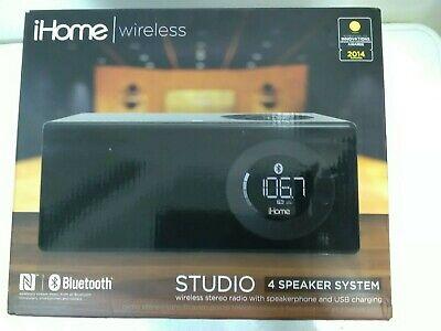 Ihome Wireless Studio Wireless Stereo Radio With speakerphone IBN10