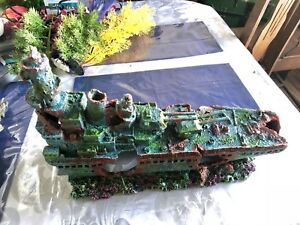Top Fin Battleship aquarium decoration