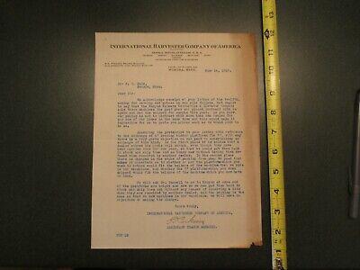 1918 International Harvester Company America Winona Minnesota MN Letterhead 103 - Party America Mn