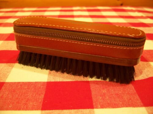 VTG Leather Grooming Case/Razor, Blades, Comb,Cloths Brush,Kit Glazer Steel Corp