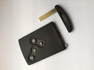 genuine renault clio iv captur key card 285971998r cut to code ebay. Black Bedroom Furniture Sets. Home Design Ideas