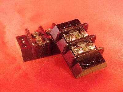 Qty 2.......new Marathon Power Terminal Block Strip 30 Amp 600v...2 Pole