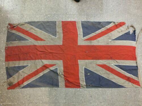 1987. Vintage Original Great Britain Flag. 89 x 180 cm. Made in USSR.