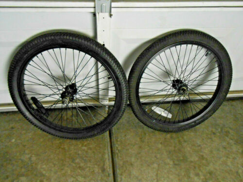 """SET OF HYPER PRO 20"""" BMX WHELLS WITH  TIRES FRONT AND BACK GOOD"""